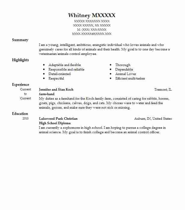 Perfect Animal Control Resume Composition - Professional Resume - animal control worker sample resume