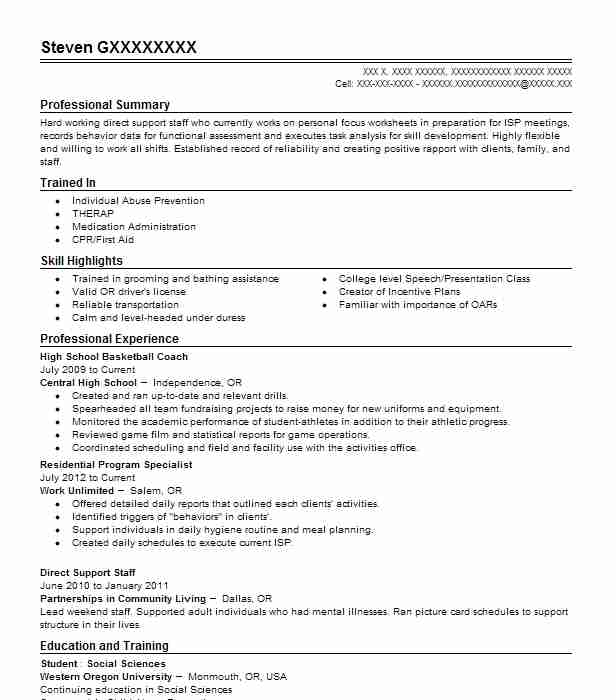 High School Basketball Coach Resume Sample LiveCareer