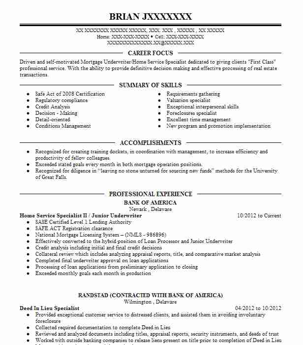 16 Mortgage Resume Examples in Delaware LiveCareer