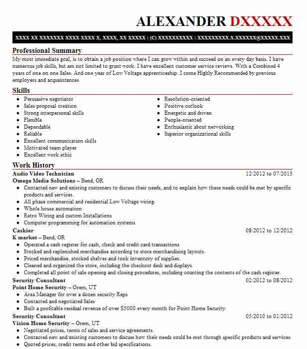 Audio Video Technician Resume Sample Technician Resumes LiveCareer