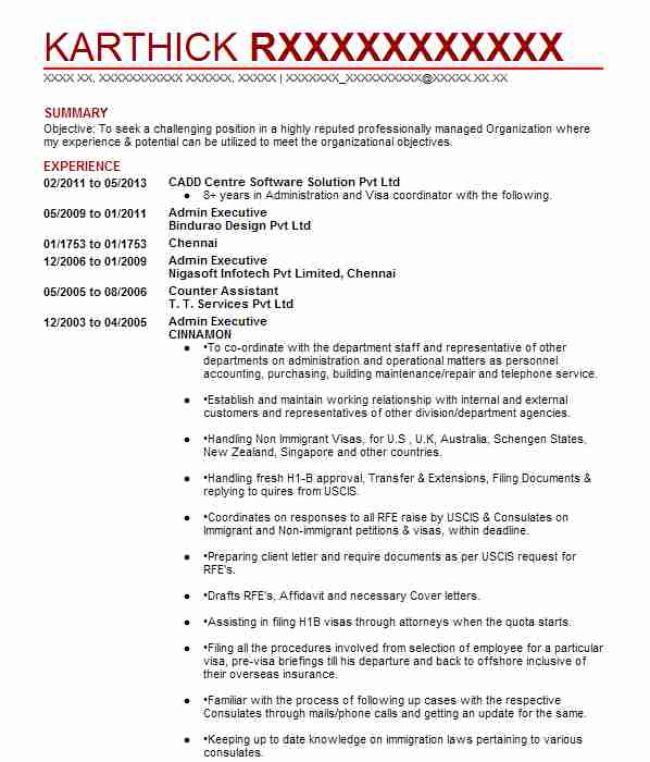 Admin Executive Resume Sample Executive Resumes LiveCareer