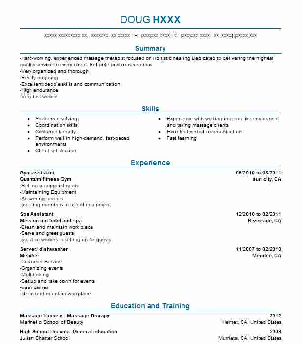 Gym Assistant Resume Sample Assistant Resumes LiveCareer