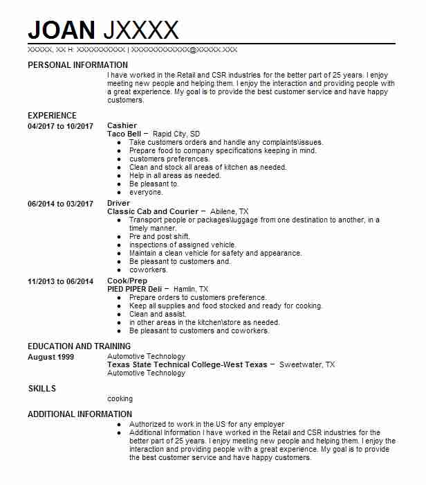 Cashier/ Customer Service Resume Example (Dd\u0027s DISCOUNTS) - Los - a better resume service