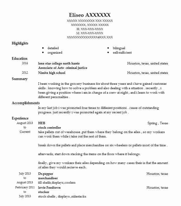Stock Controller Resume Sample Controller Resumes LiveCareer