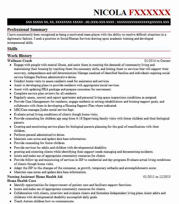 Wellness Coach Resume Sample Coach Resumes LiveCareer