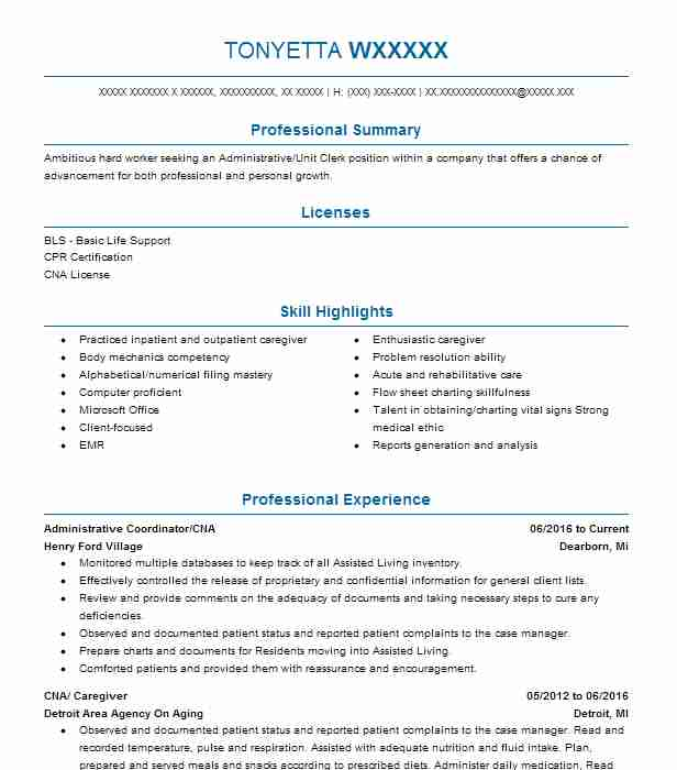 Child Caregiver Resume Sample Caregiver Resumes LiveCareer