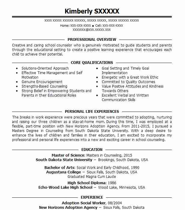 Adoption Social Worker Resume Sample Worker Resumes LiveCareer - social work resumes