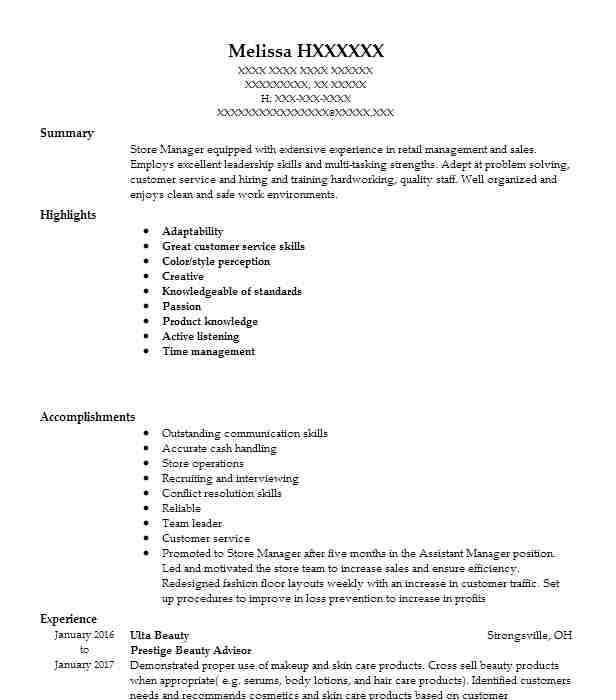 132980 Store Management Resume Examples Retail Resumes LiveCareer