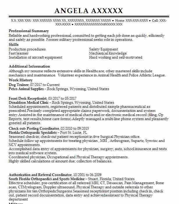 61 Industrial Machinery Resume Examples in Wyoming LiveCareer - pain management physician sample resume