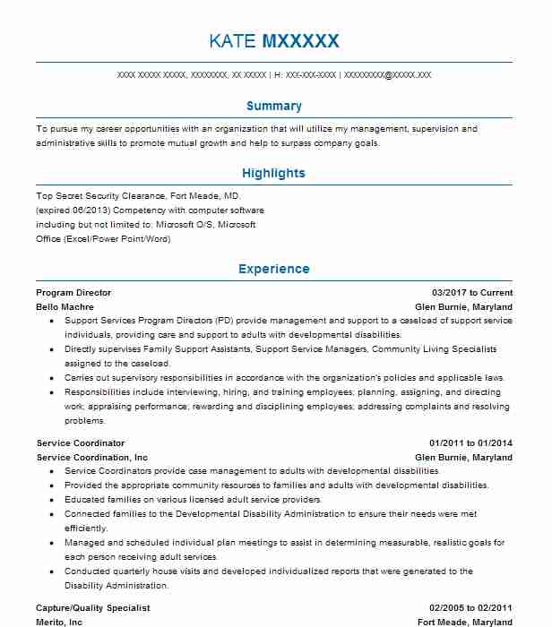 Program Director Resume Sample Director Resumes LiveCareer