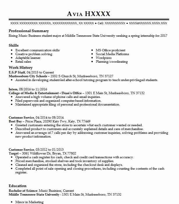 69 Talent Agents Resume Examples in Tennessee LiveCareer