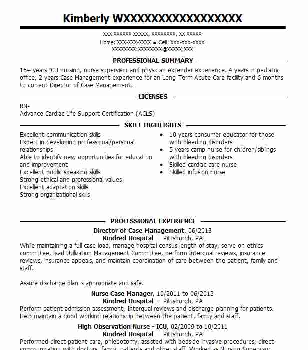 Utilization Management Nurse Sample Resume Professional Utilization - utilization management nurse sample resume