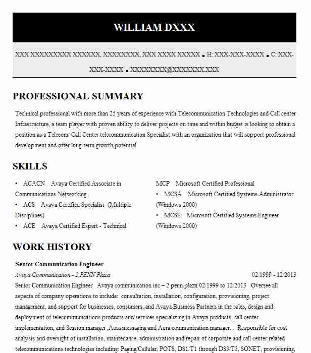 Telecommunication consultant sample resume 3924523 - 1cashinginfo