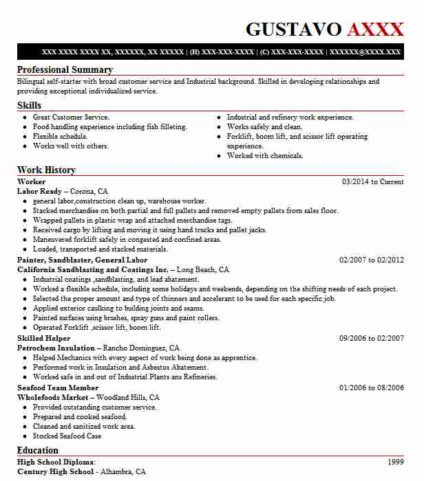 459 Butchers And Meat Processing Resume Examples in California