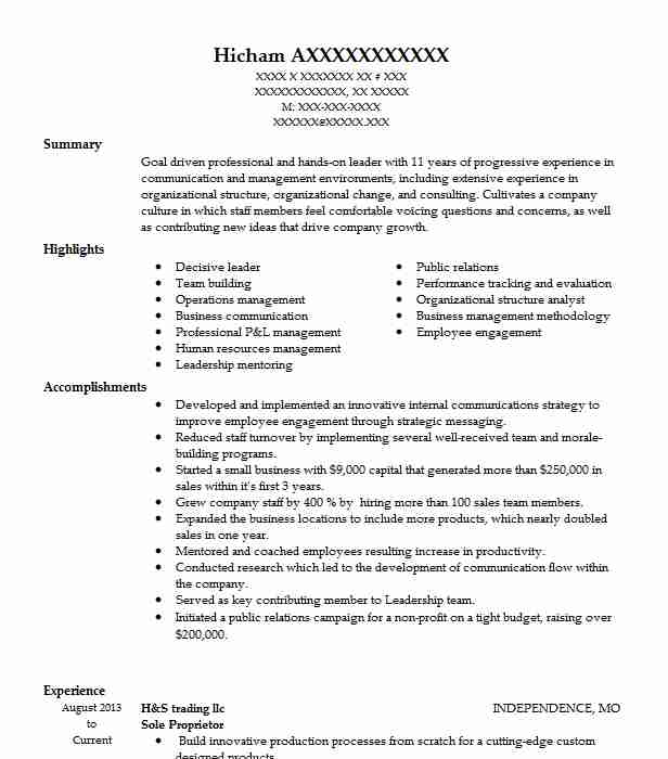 General Labor Resume Objectives Resume Sample LiveCareer