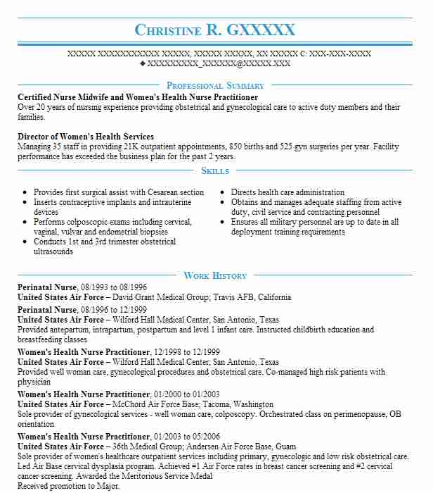 Perinatal Nurse Resume Sample Nursing Resumes LiveCareer - Prenatal Nurse Sample Resume
