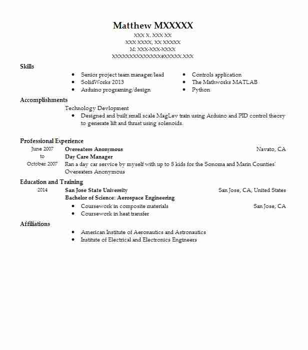 Day Care Manager Resume Sample Manager Resumes LiveCareer