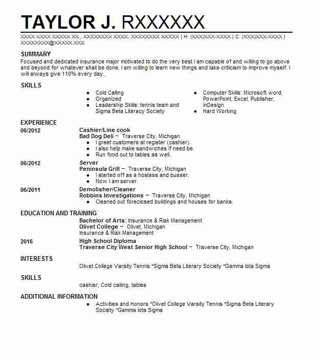 7831 Underwriters Resume Examples Insurance Resumes LiveCareer