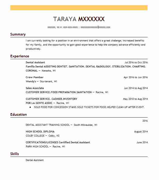 Dentist Resume Sample Dental Resumes LiveCareer - dentist resume example