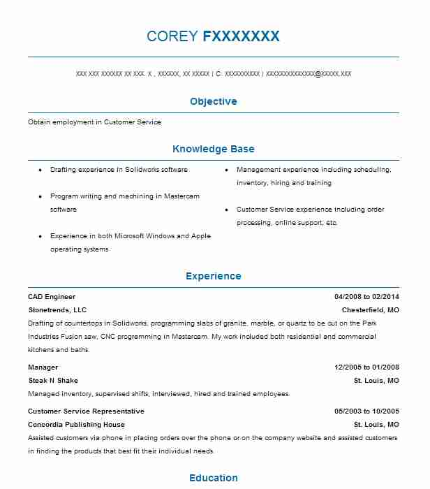 Cad Engineer Resume Sample Engineering Resumes LiveCareer