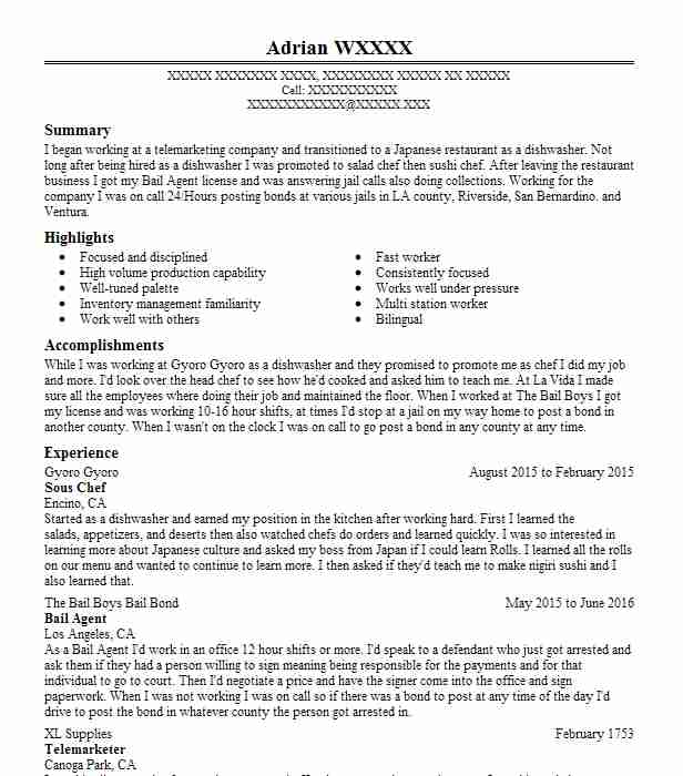 Bail Agent Resume Sample Agent Resumes LiveCareer