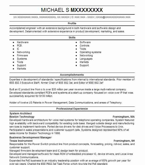 System Architect Resume Samples Architect Resumes LiveCareer