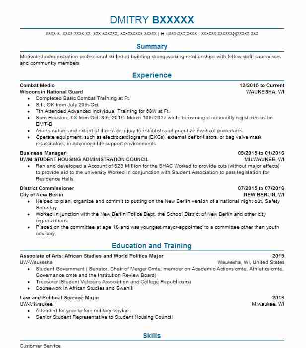 Tsm Administration Resume Sample Administration Resumes LiveCareer - administration resume format