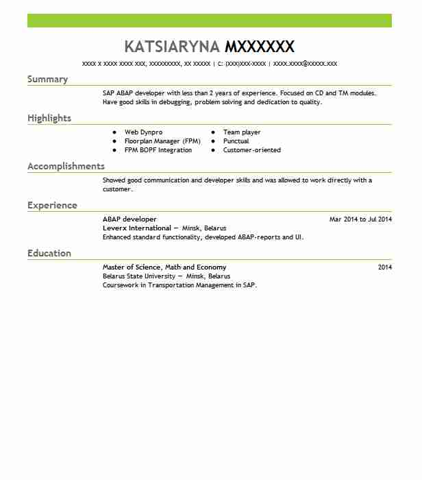 net with crm sample resume