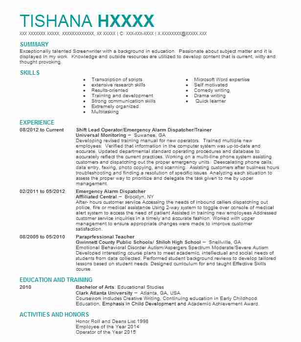 examples of resumes for producers