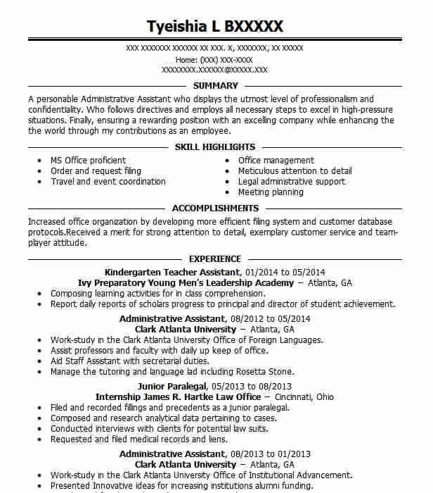 Kindergarten Teacher Assistant Resume Sample LiveCareer