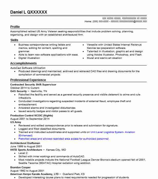 107 Drafters Resume Examples in Tennessee LiveCareer