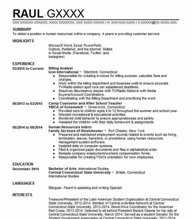 Billing Analyst Resume Sample Analyst Resumes LiveCareer - Billing Analyst Sample Resume