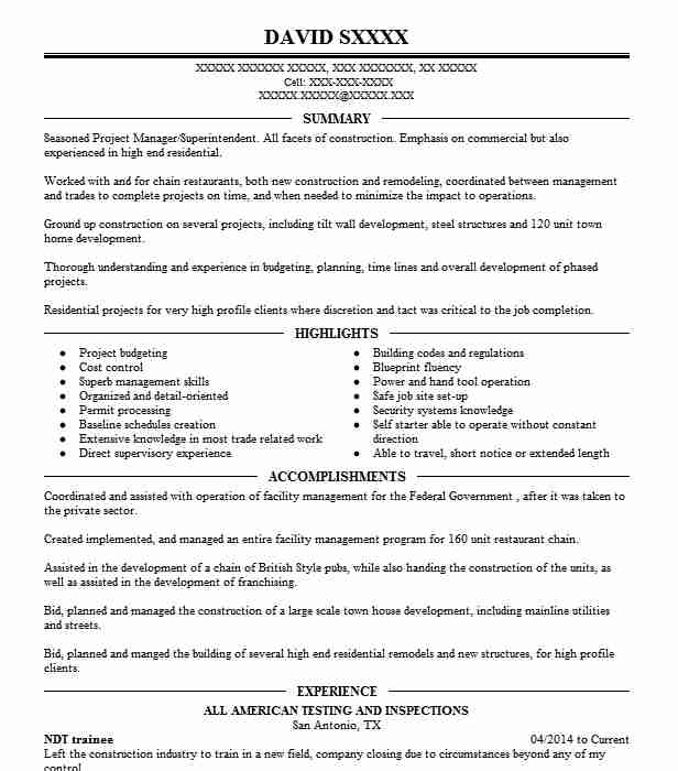 Ndt Trainee Resume Sample Trainee Resumes LiveCareer