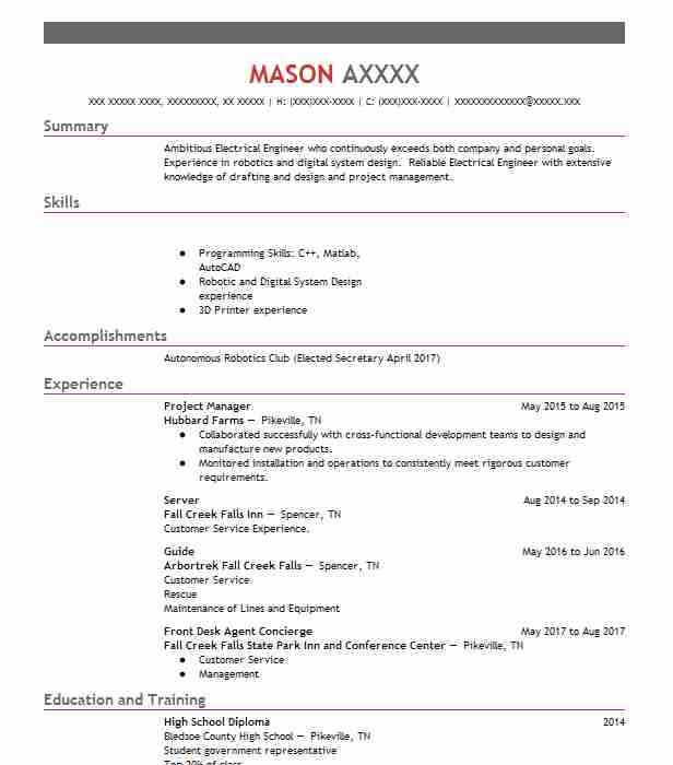 536 Electrical And Electronic Engineers (Engineering) Resume - electronic engineering resume