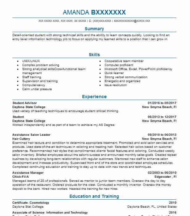 Student Advisor Resume Sample Advisor Resumes LiveCareer