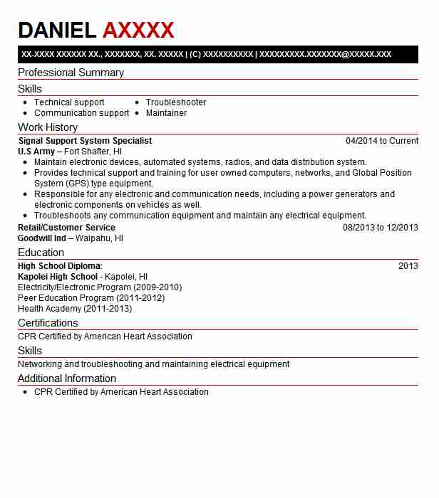 103 Electrical And Electronic Engineers (Engineering) Resume - signal support systems specialist sample resume