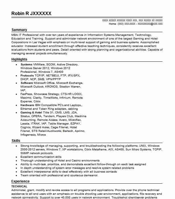 Eye-Grabbing Technical Resumes Samples LiveCareer