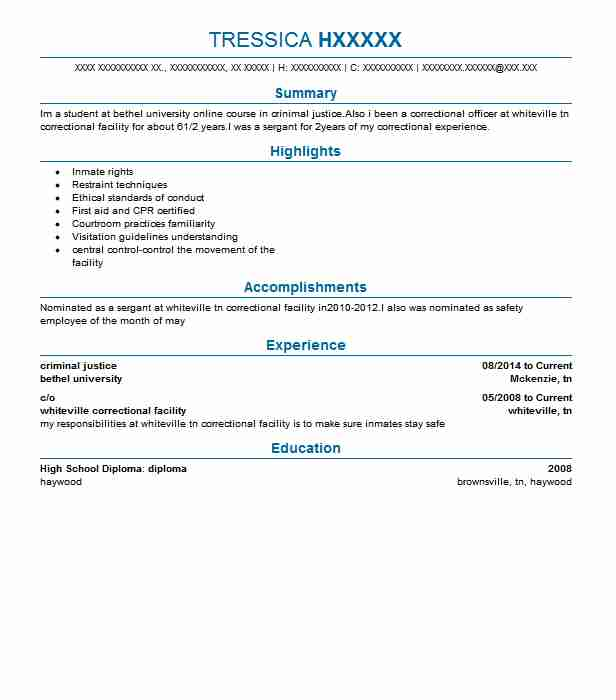 sample resume with college degree