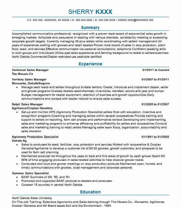 Technical Sales Manager Resume Sample Manager Resumes LiveCareer