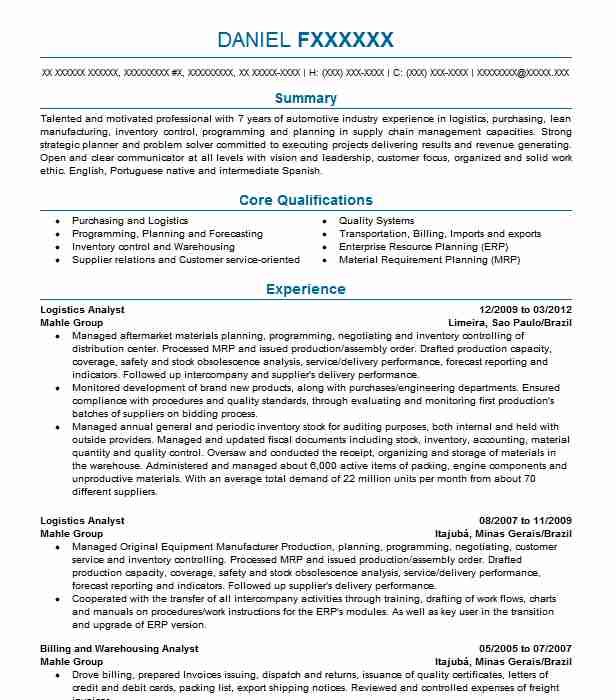 Quality Control Inspector Resume Sample LiveCareer