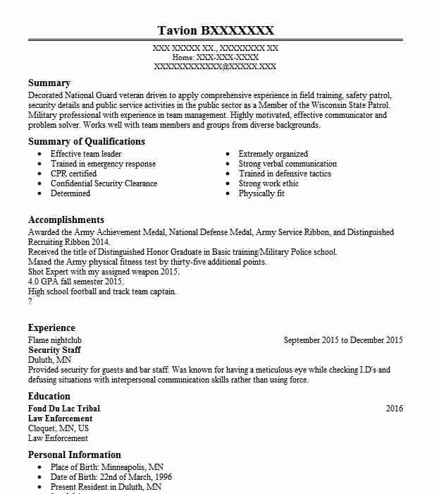 107 Military Resume Examples in Minnesota LiveCareer