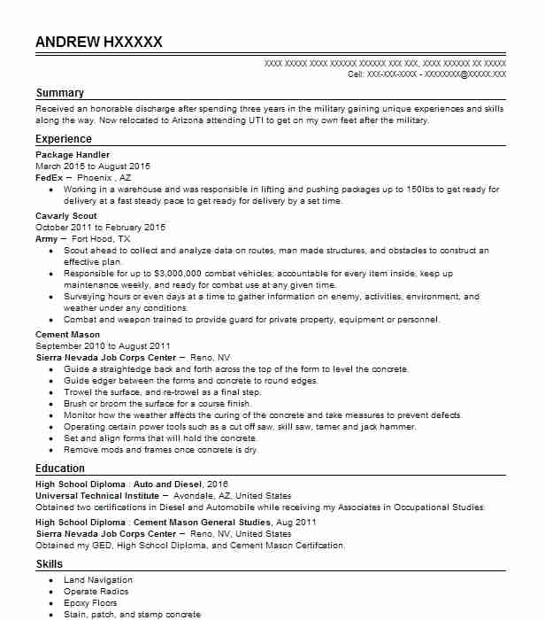 Fedex Material Handler Resume Sample Handler Resumes LiveCareer