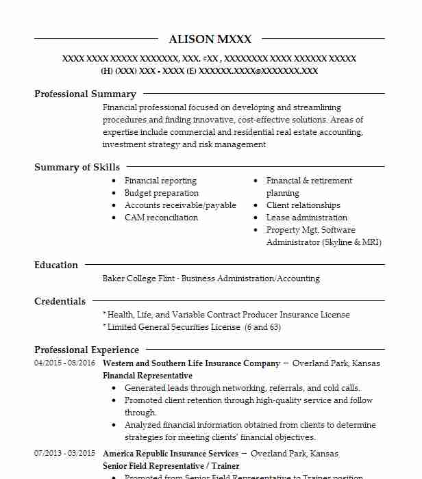 557 Accountants (Accounting And Finance) Resume Examples in Kansas