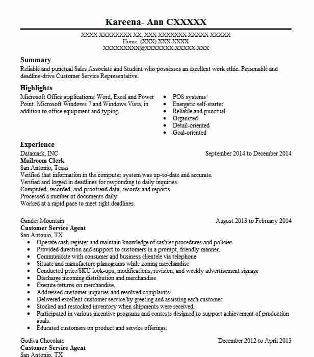 resume description mail