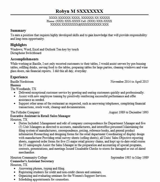 Best Legal Secretary Resume Example LiveCareer - resume for secretary