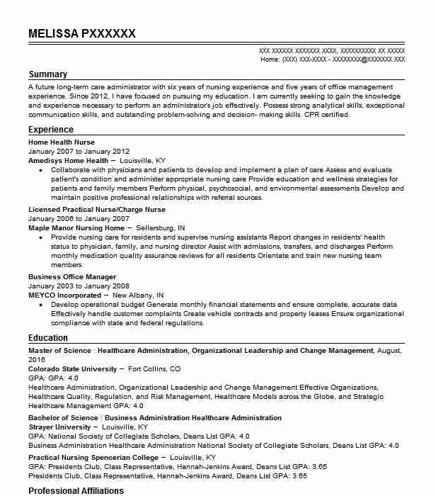 Home Health Nurse Resume Sample Nursing Resumes LiveCareer