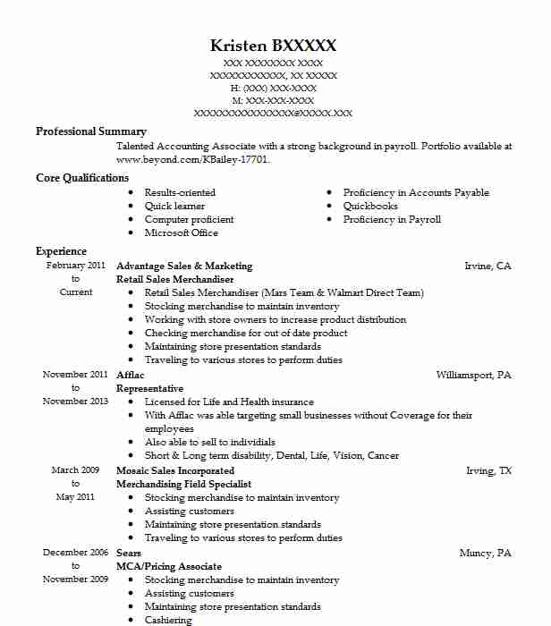 Retail Sales Merchandiser Resume Sample LiveCareer