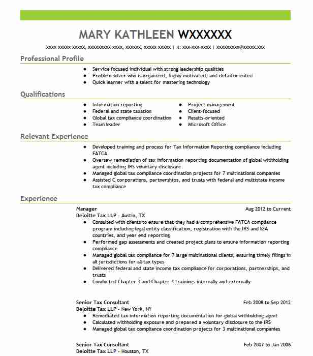 Staff Tax Accountant Resume Sample Accountant Resumes LiveCareer - Tax Consultant Resume