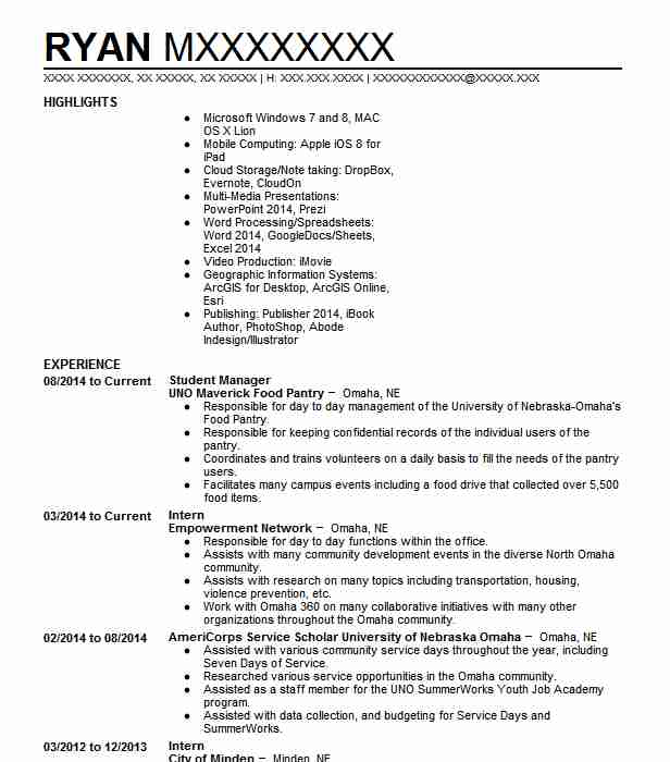 college basketball student manager resume