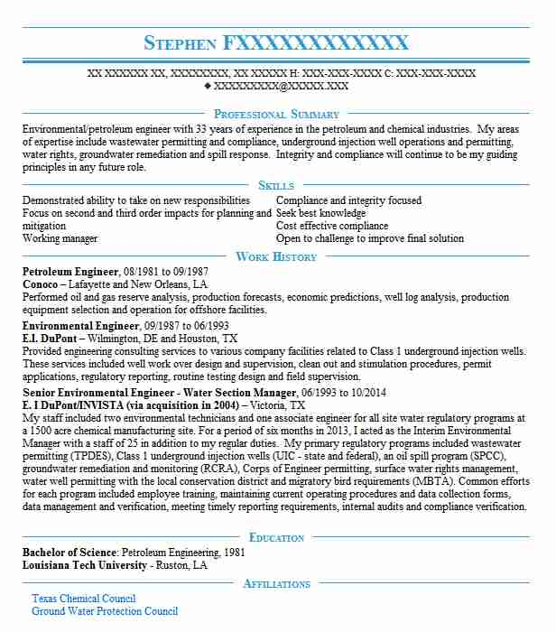 Petroleum Engineer Resume Sample Engineering Resumes LiveCareer - petroleum engineer sample resume